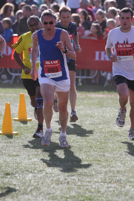 Less than 100 m to go and I am not the only one with an 'awesome race face'.  The competitive juices are flowing.