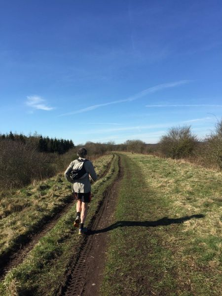 During a long run with my marathon running sister-in-law, Mary, in the Border District of Scotland in April